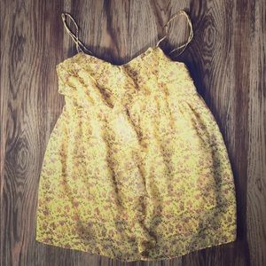 Candies yellow floral spaghetti strap top